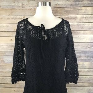 Monoreno 2 Pcs Lace Dress In Black Size M